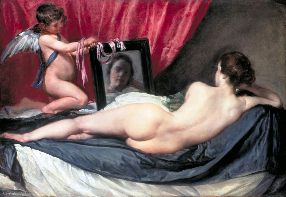 The Toilet of Venus (The Rokeby Venus), 1651 by Diego Velazquez (1599-1660, Spain) | Art Reproduction | WahooArt.com
