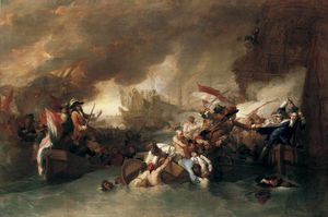 Benjamin West - The Battle of La Hogue