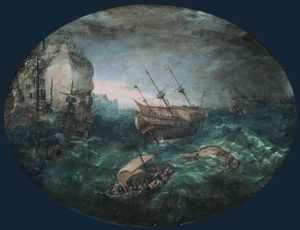 Abraham Willaerts - Shipwreck off a Rocky Coast