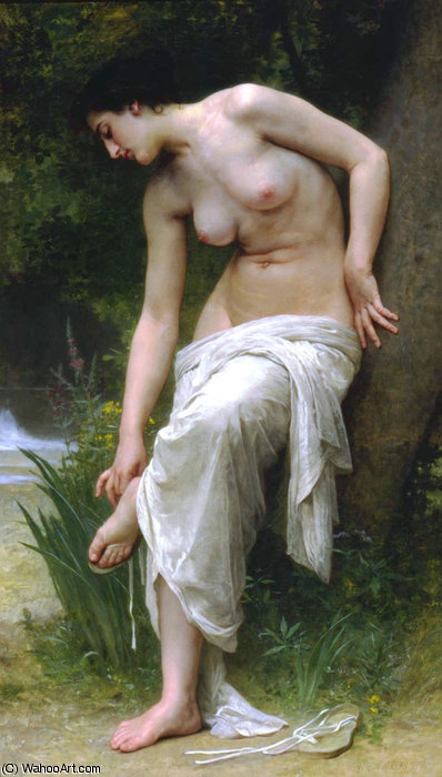 Apres le bain by William Adolphe Bouguereau (1825-1905, France)