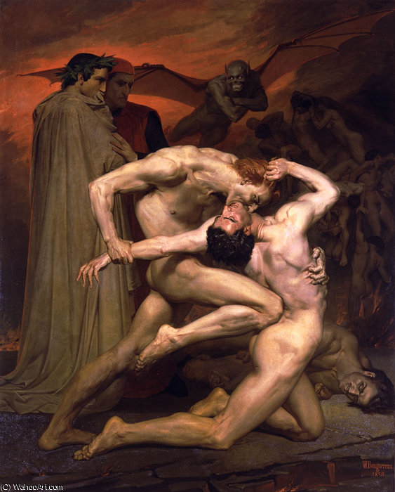 Dante et Virgile au Enfers by William Adolphe Bouguereau (1825-1905, France) | Museum Quality Reproductions | WahooArt.com