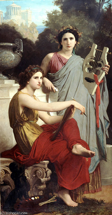 Lart et la litterature by William Adolphe Bouguereau (1825-1905, France)