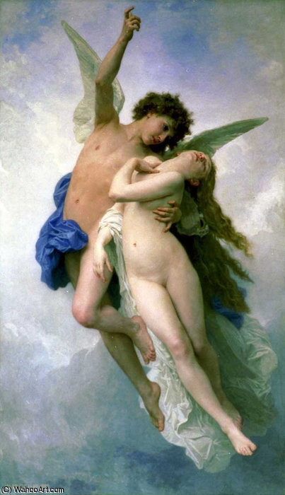 Psyche et LAmour by William Adolphe Bouguereau (1825-1905, France)