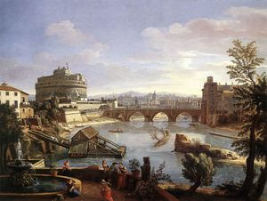 Gaspar Van Wittel (Caspar Andriaans Van Wittel) - The Castel Sant-Angelo from the South