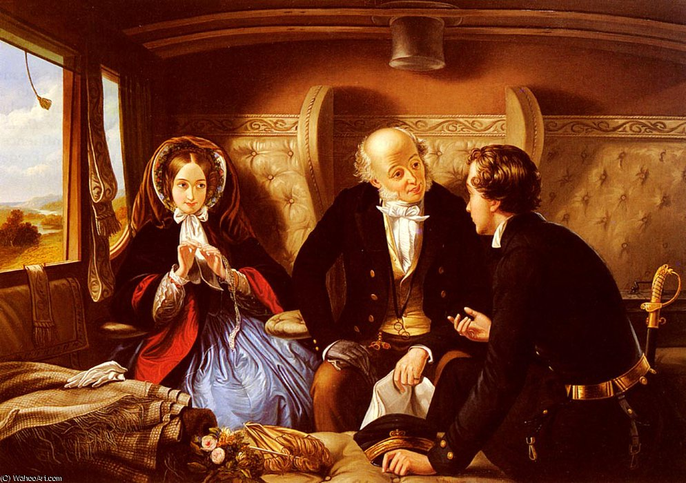 First_Class The_Return by Abraham Solomon (1823-1862, United Kingdom) | Oil Painting | WahooArt.com