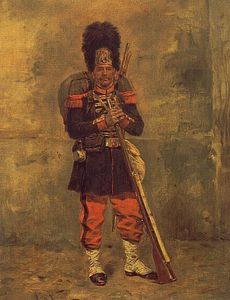 Order Museum Quality Reproductions : French grenadier by Alphonse Marie Adolphe De Neuville (1836-1885, France) | WahooArt.com