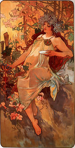 Alphonse Maria Mucha - Autumn panel
