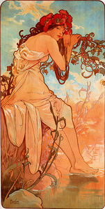Alfons Maria Mucha - Summer panel