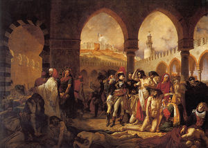 Baron Antoine Jean Gros - A J Gros Bonaparte Visiting the Pesthouse in Jaffa