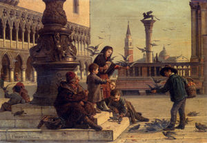 Antonio Paoletti - Feeding the pigeons