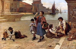 Antonio Paoletti - The bird seller