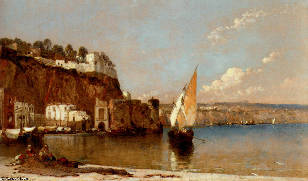 Sorrento bay of naples by Arthur Joseph Meadows
