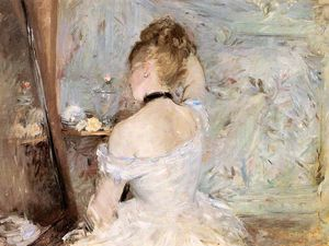 Berthe Morisot - A Woman at her Toilette - (Famous paintings)