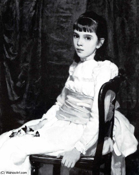 Little girl by Cecilia Beaux (1855-1942, United States) | Oil Painting | WahooArt.com