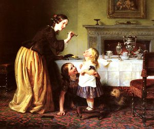 Charles West Cope - Breakfast time
