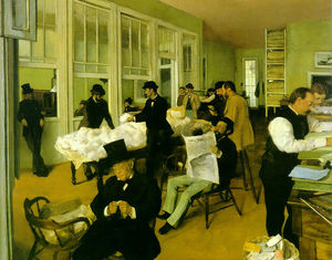 Edgar Degas - Cotton exchange