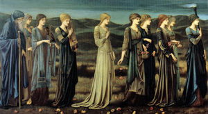 Order Reproductions | The_Wedding_of_Psyche_1895 - by Edward Coley Burne-Jones (1833-1898, United Kingdom) | WahooArt.com