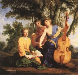 Brother Lesueur (Eustache Le Sueur) - The muses melpomene erato and polymnia