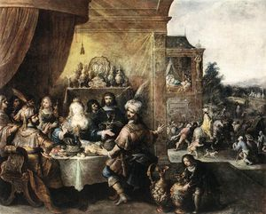Frans Francken The Younger - Feast Of Esther