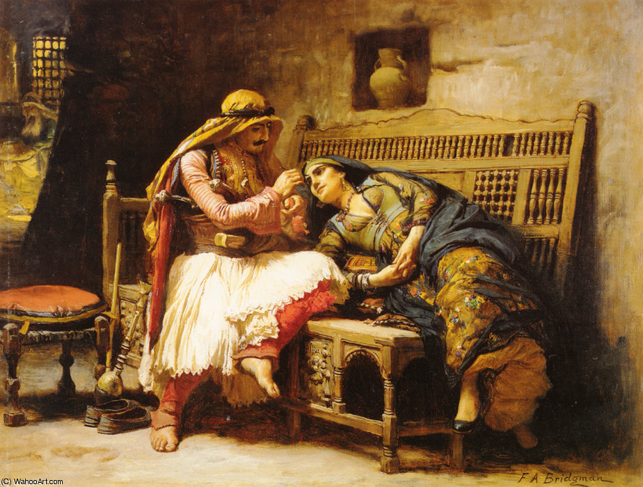 Queen of the Brigands by Frederick Arthur Bridgman (1847-1928, United States) | Museum Art Reproductions Frederick Arthur Bridgman | WahooArt.com