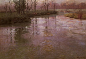 Frits Thaulow - On the french river
