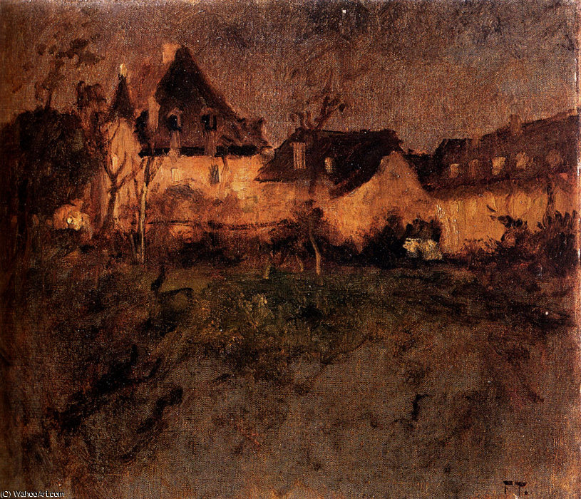 fra beaulieu by Frits Thaulow (1847-1906, Norway) | Art Reproduction | WahooArt.com
