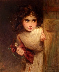 George Elgar Hicks - Edgar home from school