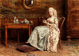 George Goodwin Kilburne - Taking tea