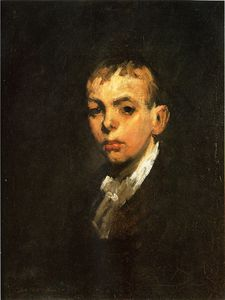 George Wesley Bellows - Head of a Boy aka Gray Boy
