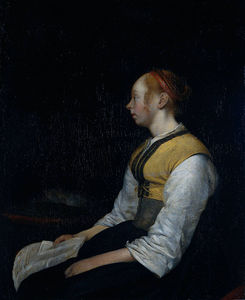 Gerard Ter Borch - II Gerard ter Girl in Peasant Costume. Probably Gesina the Painter-s Half Sister