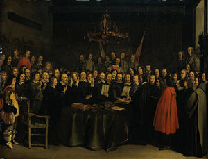 Gerard Ter Borch The Younger - II Gerard ter The Ratification of the Treaty of Munster 15 May