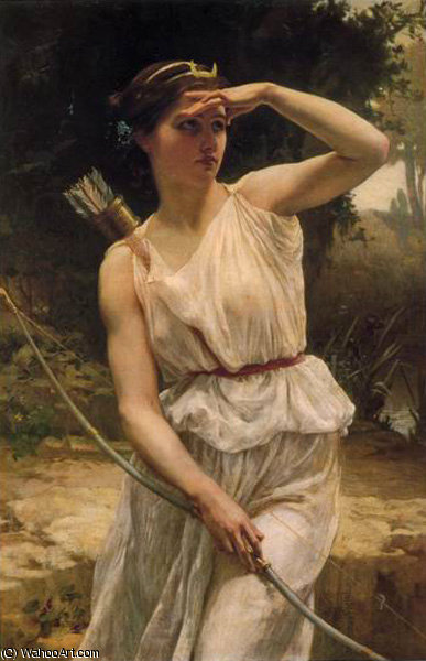 Diana hunting by Guillaume Seignac (1870-1924, France) | Famous Paintings Reproductions | WahooArt.com