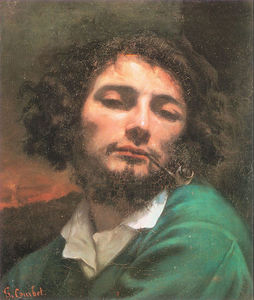 Gustave Courbet - Self Portrait Man with a Pipe