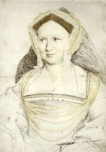 Hans Holbein The Younger - Portrait of Lady Mary Guildford