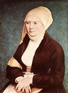 Hans Holbein The Younger - Portrait of the Artist-s Wife