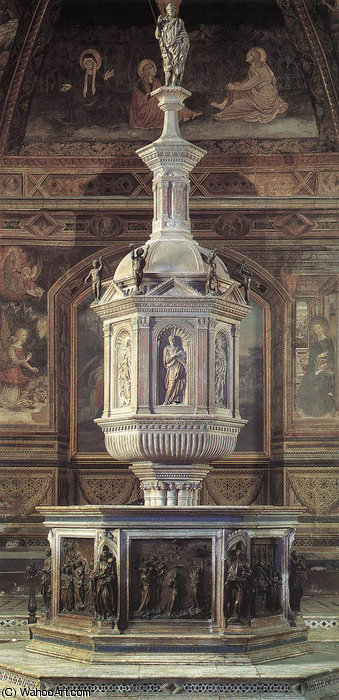 Order Museum Quality Reproductions : Fountain, 1417 by Jacopo Della Quercia (1374-1438, Italy) | WahooArt.com