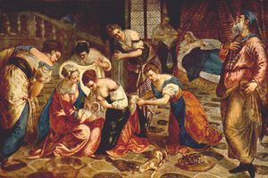 Tintoretto (Jacopo Comin) - The Birth of St. John the Baptist