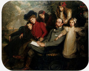 Jacques-Emile Blanche - The poet francis viele griffin and his family