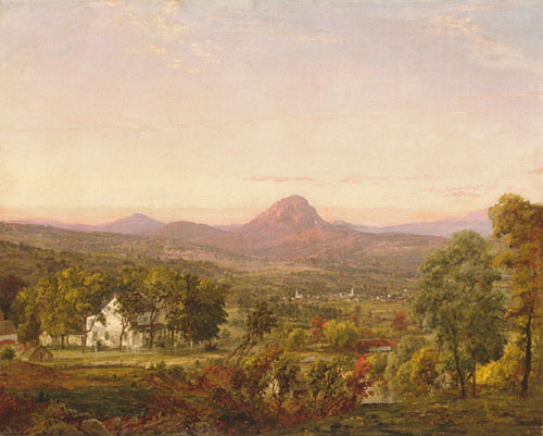autumn landscape by Jasper Francis Cropsey (1823-1900, United States)