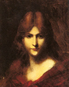 Jean Jacques Henner - A Red haired Beauty