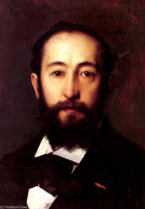 Portrait_D-Homme by Jean Jacques Henner (1829-1905, France) | Museum Quality Copies Jean Jacques Henner | WahooArt.com