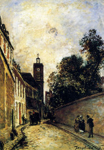Johan Barthold Jongkind - rue de l abbe de l epee and the church of saint james