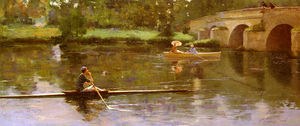 John Lavery - the bridge at grez