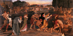John Roddam Spencer Stanhope - The Waters of Lethe by the Plains of Elysium