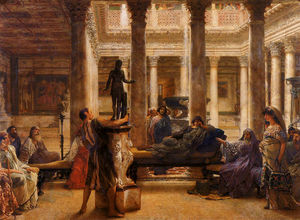 Lawrence Alma-Tadema - A roman art lover