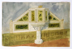 Louis Comfort Tiffany - Design for a marble pulpit ca.