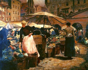 Louis Comfort Tiffany - Market Day at Nuremberg