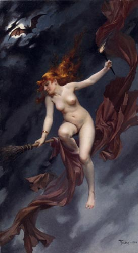 The witches sabbath by Luis Ricardo Falero (1851-1896, Spain) | Art Reproductions Luis Ricardo Falero | WahooArt.com