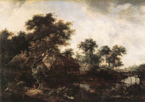 Meindert Hobbema - Meyndert the water mill