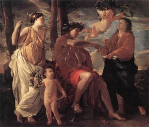 Nicolas Poussin - Inspiration of the poet